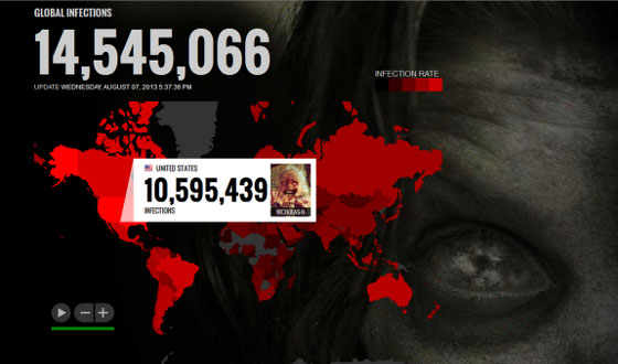 Over 15 Million People Worldwide Infected by The Dead Yourself Zombie Virus