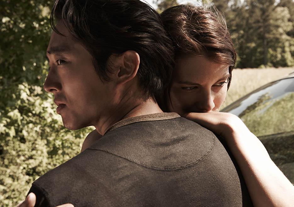 Glenn Rhee (Steven Yeun) and Maggie Greene (Lauren Cohan) - The Walking Dead
