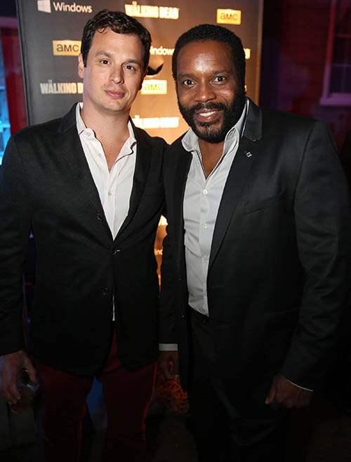 David Alpert (Executive Producer) and Chad L. Coleman (Tyreese) at The Walking Dead Season 4 Premiere Party
