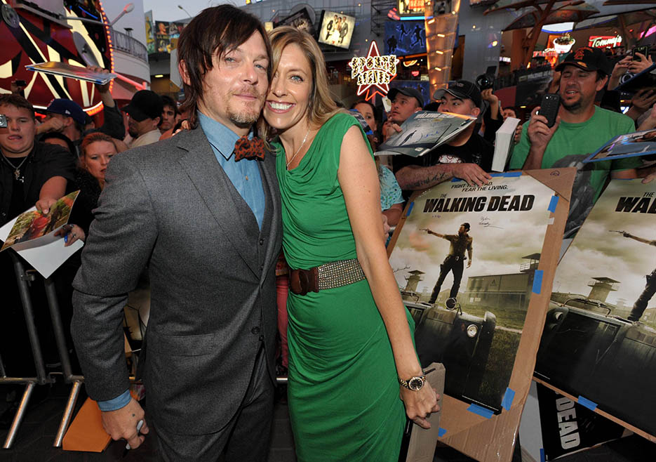 Norman Reedus (Daryl Dixon) and Denise Huth (Co-Executive Producer) at The Walking Dead Season 4 Premiere Party