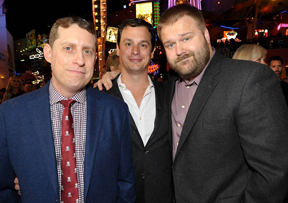 Scott M. Gimple (Executive Producer, Writer), David Alpert (Executive Producer) and Robert Kirkman (Executive Producer, Writer) at The Walking Dead Season 4 Premiere Party