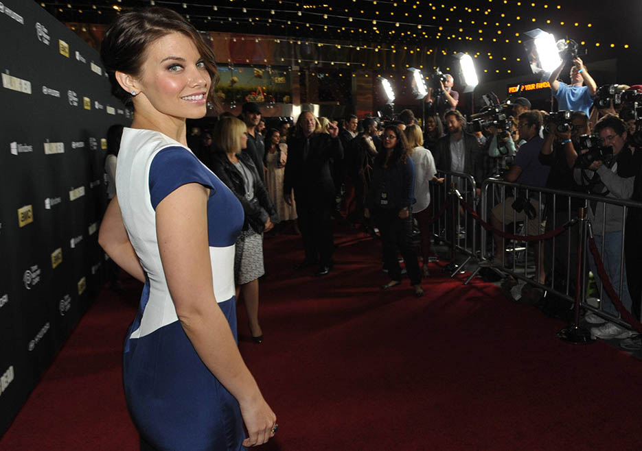Lauren Cohan (Maggie Greene) at The Walking Dead Season 4 Premiere Party