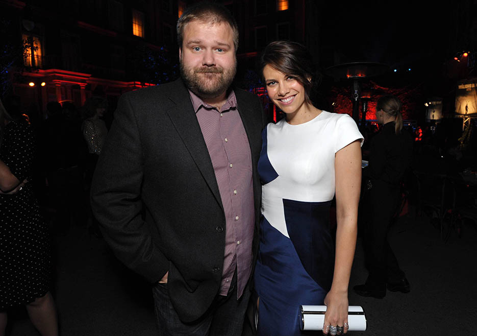Robert Kirkman (Executive Producer, Writer) and Lauren Cohan (Maggie Greene) at The Walking Dead Season 4 Premiere Party