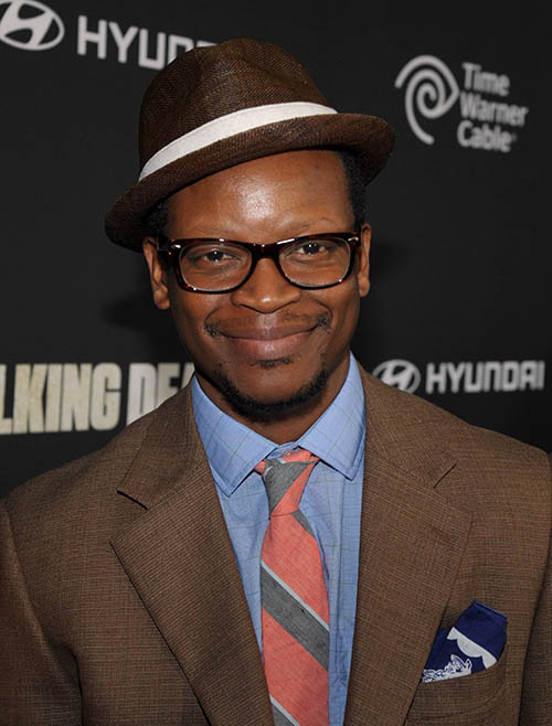 Lawrence Gilliard Jr. (Bob Stookey) at The Walking Dead Season 4 Premiere Party