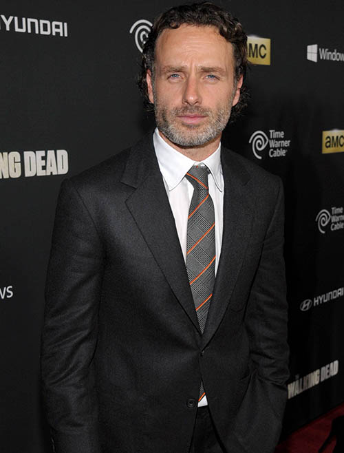 Andrew Lincoln (Rick Grimes) at The Walking Dead Season 4 Premiere Party