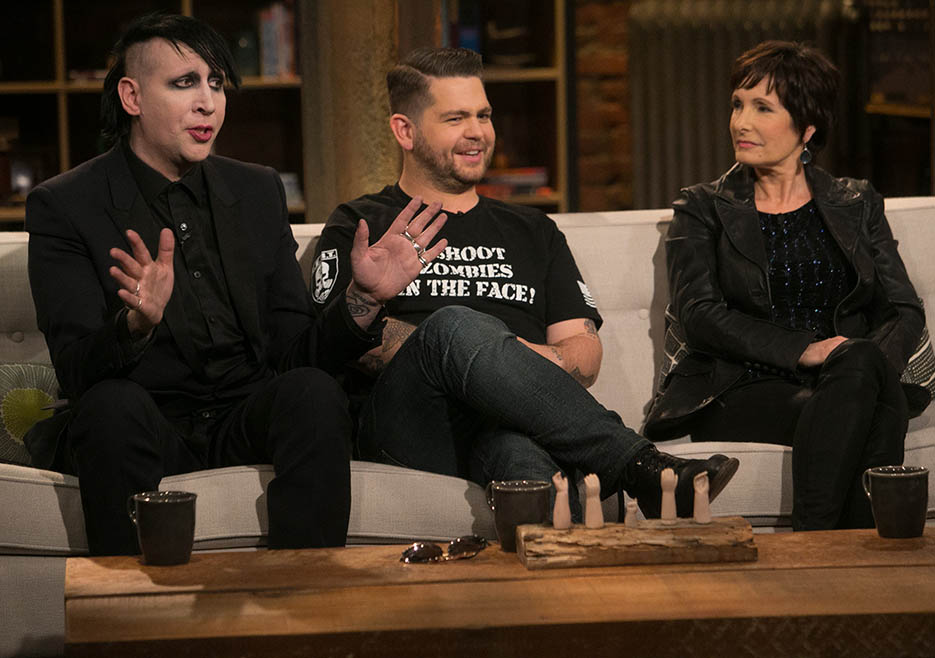 Marilyn Manson, Jack Osbourne and Gale Anne Hurd (The Walking Dead Executive Producer) in Episode 3 of The Talking Dead