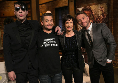 Marilyn Manson, Jack Osbourne, Gale Anne Hurd (The Walking Dead Executive Producer) and Chris Hardwick in Episode 3 of The Talking Dead