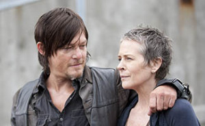 Daryl Dixon (Norman Reedus) and Carol (Melissa Suzanne McBride) - The Walking Dead