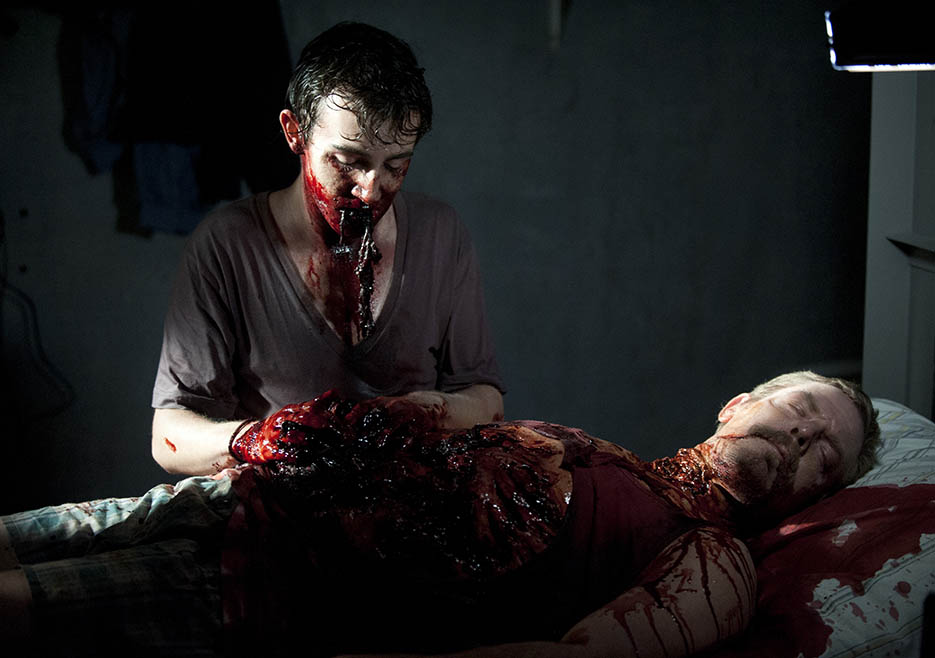 Patrick (Vincent Martella) in Episode 2 of The Walking Dead