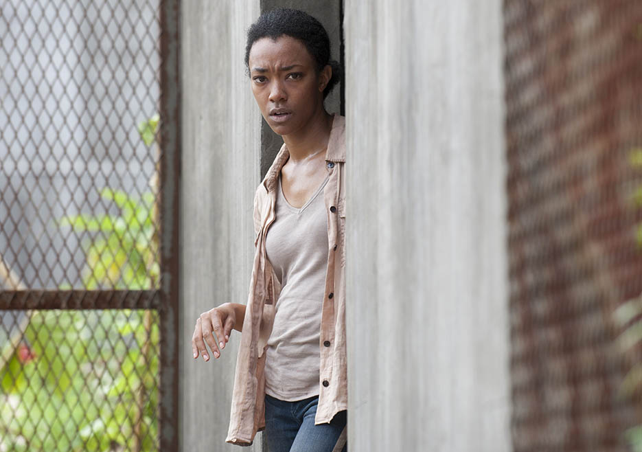 Sasha (Sonequa Martin-Green) in Episode 3 of The Walking Dead
