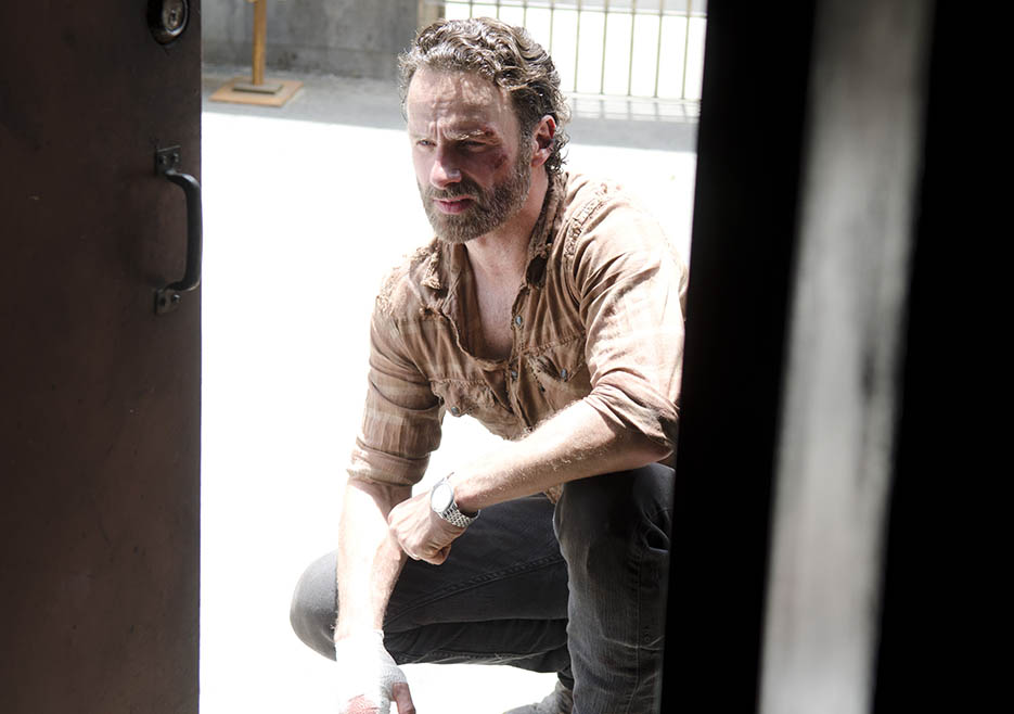Rick Grimes (Andrew Lincoln) in Episode 3 of The Walking Dead