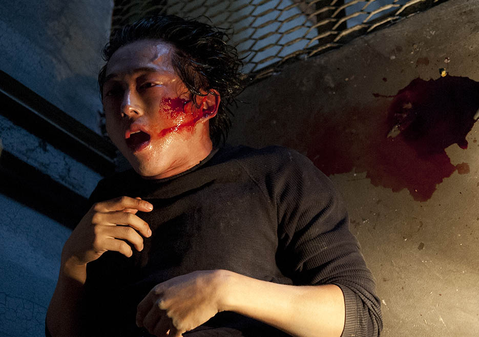 Glenn Rhee (Steven Yeun) in Episode 5 of The Walking Dead