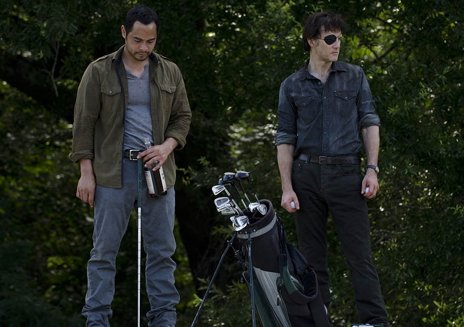 Martinez (Jose Pablo Cantillo) and the Governor (David Morrissey) in Episode 7 of The Walking Dead