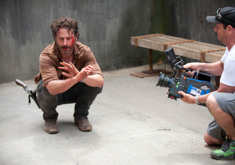 Andrew Lincoln (Rick Grimes) in Episode 3 of The Walking Dead
