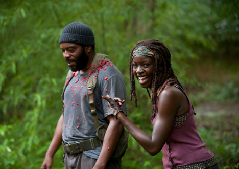 Chad Coleman (Tyreese) and Danai Gurira (Michonne) in Episode 3 of The Walking Dead