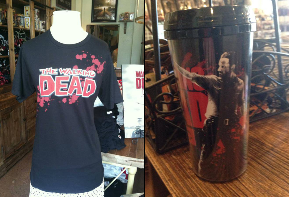 The Walking Dead T-shirt and thermos