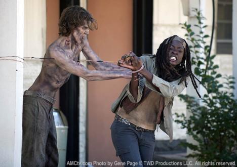 Michonne (Danai Gurira) in Episode 15 of The Walking Dead