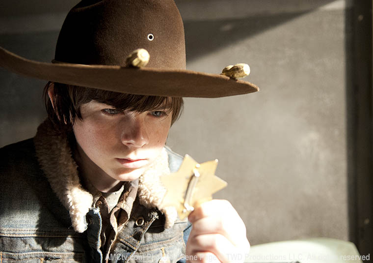 Carl Grimes (Chandler Riggs) in Episode 16 of The Walking Dead