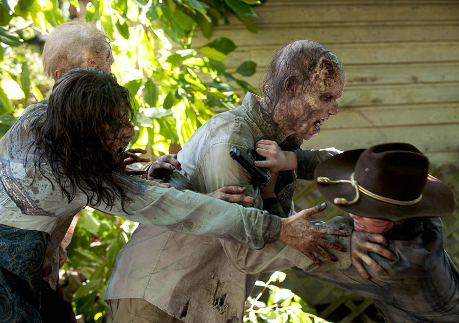 Carl Grimes (Chandler Riggs) in Episode 9 of The Walking Dead
