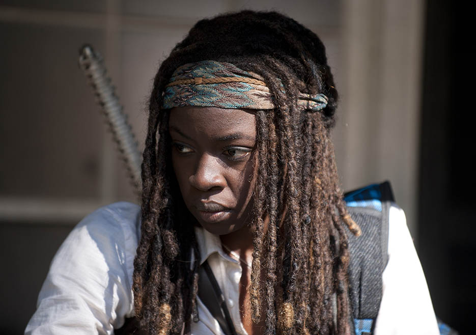 Michonne (Danai Gurira) in Episode 11 of The Walking Dead