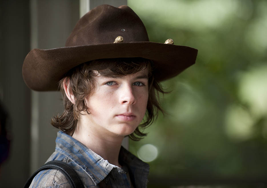 Carl Grimes (Chandler Riggs) in Episode 11 of The Walking Dead