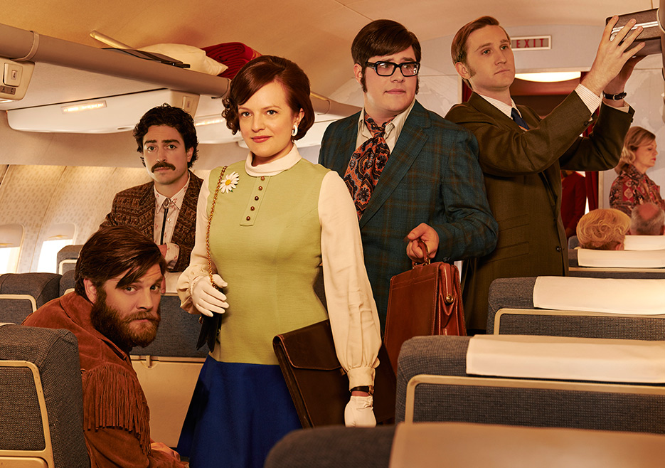 Stan Rizzo (Jay R. Ferguson), Michael Ginsberg (Ben Feldman), Peggy Olson (Elisabeth Moss), Harry Crane (Rich Sommer) and Ken Cosgrove (Aaron Staton) of Mad Men