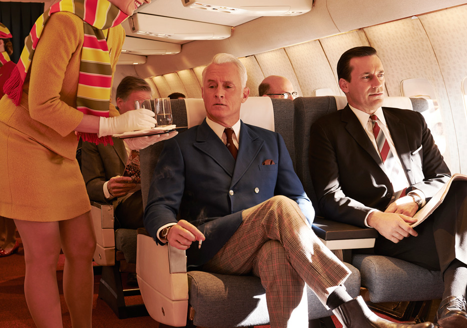 Roger Sterling (John Slattery) and Don Draper (Jon Hamm) of Mad Men