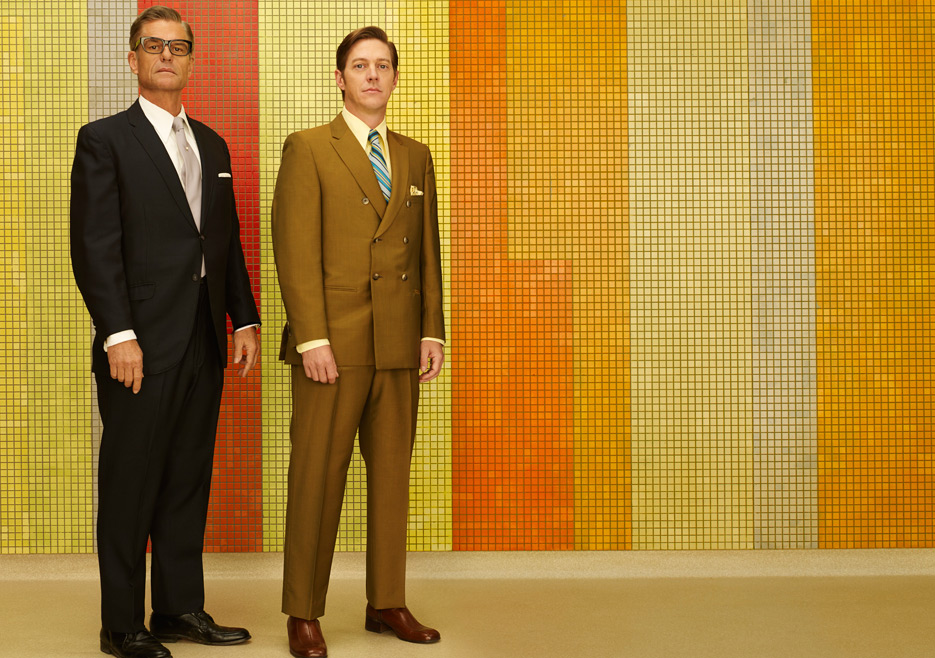 Jim Cutler (Harry Hamlin) and Ted Chaough (Kevin Rahm) of Mad Men