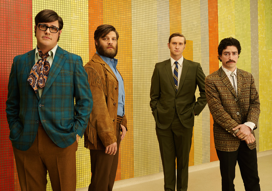 Harry Crane (Rich Sommer), Stan Rizzo (Jay R. Ferguson), Ken Cosgrove (Aaron Staton) and Michael Ginsberg (Ben Feldman) of Mad Men