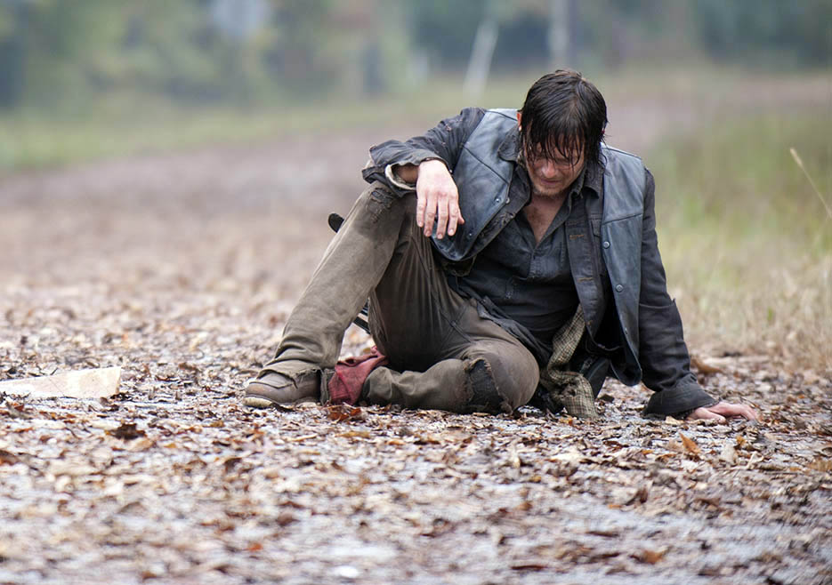 Daryl Dixon (Norman Reedus) in Episode 13 of The Walking Dead