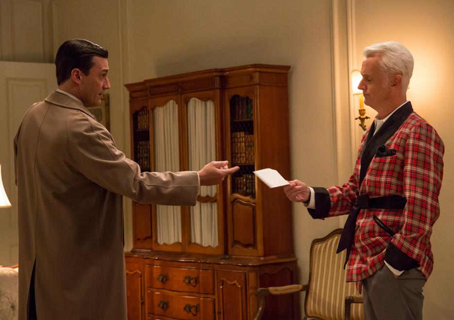 Don Draper (Jon Hamm) and Roger Sterling (John Slattery) of Mad Men