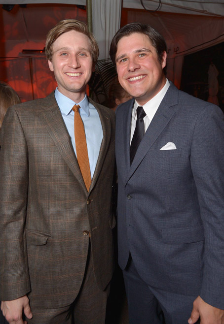 Aaron Staton (Ken Cosgrove) and Rich Sommer (Harry Crane) of Mad Men
