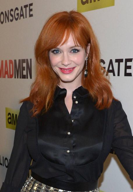 Christina Hendricks (Joan Harris) of Mad Men