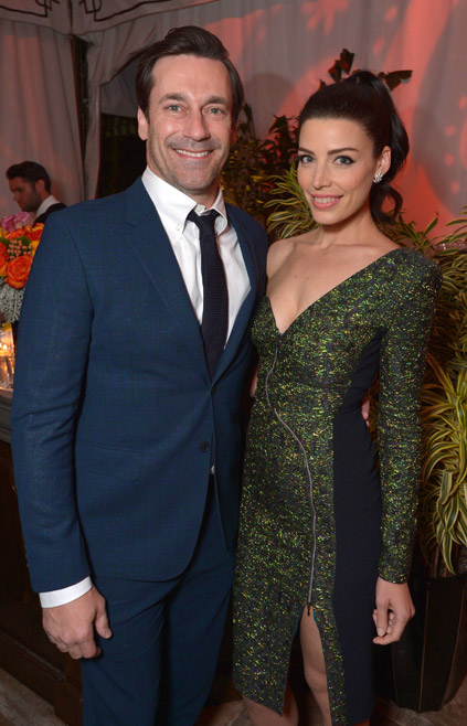 Jon Hamm (Don Draper) and Jessica Paré (Megan Draper) of Mad Men