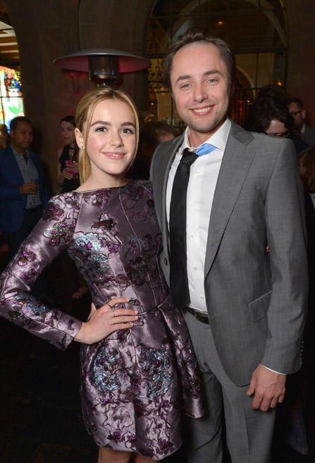 Kiernan Shipka (Sally Draper) and Vincent Kartheiser (Pete Campbell) of Mad Men