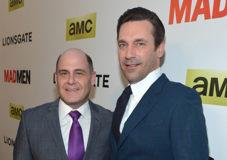 Matthew Weiner (Series Creator and Executive Producer) and Jon Hamm (Don Draper) from Mad Men