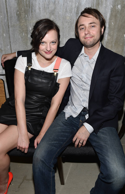 Elisabeth Moss (Peggy Olson) and Vincent Kartheiser (Pete Campbell) from Mad Men