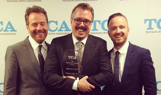 <em>Breaking Bad</em> Wins Its Second Consecutive TCA Award for Program of the Year