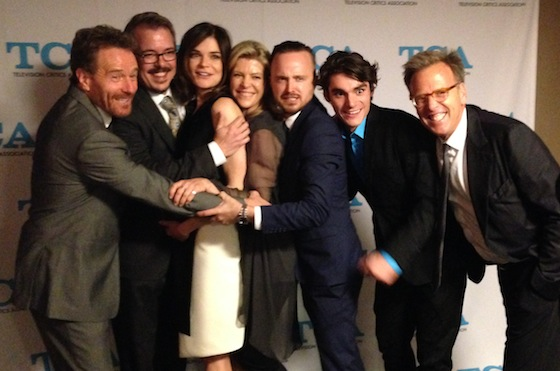 TCA Awards 2014 - Breaking Bad cast and crew  accept award