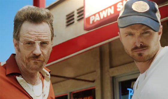 Bryan Cranston and Aaron Paul Open the Barely Legal Pawn Shop Just in Time for the Emmys