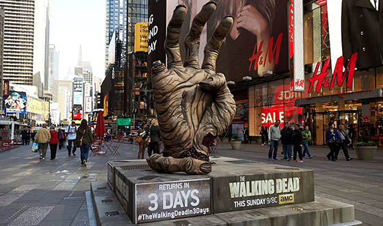 Count Down to <em>The Walking Dead</em> Season 5 Premiere With a Giant Walker Hand
