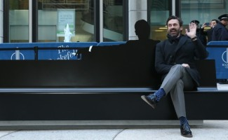 AMC Mad Men Bench Unveiling