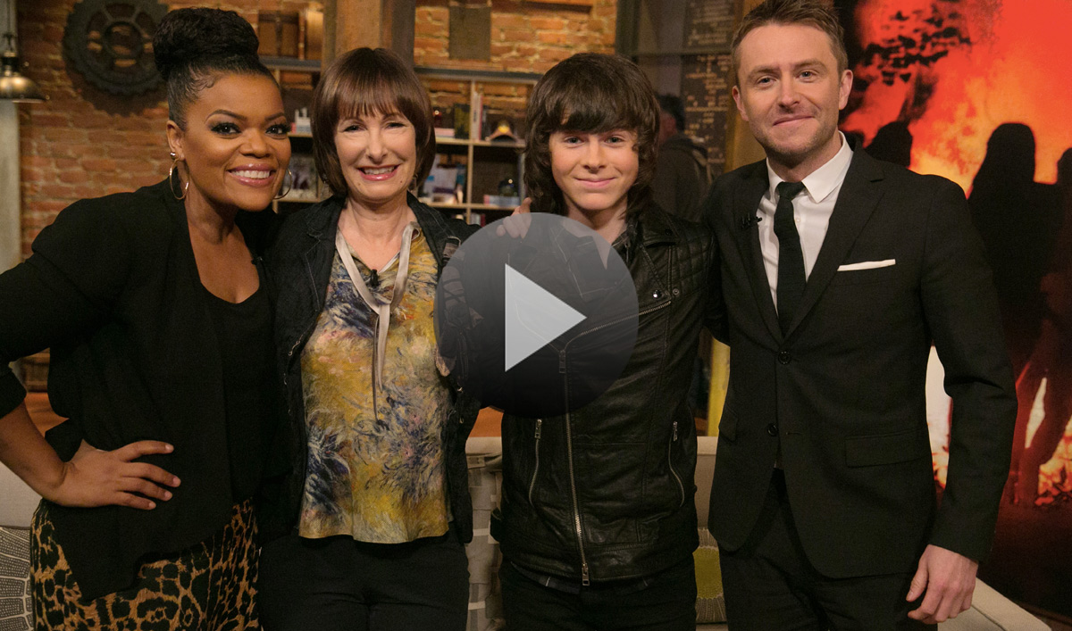 Video – <em>Talking Dead</em> Episode 515 Highlights and Bonus Scene Featuring Chandler Riggs, Gale Anne Hurd and Yvette Nicole Brown