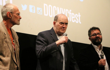 Edward Loomis, Bill Binney, and Friedrich Moser answer questions from the audience during the Q&A following the DOC NYC screening of 'A Good American' (Photo by Qiando Rao/Sameer Jamal)