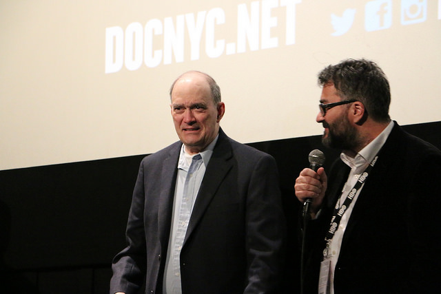Bill Binney and Friedrich Moser answer questions from the audience during the Q&A following the DOC NYC screening of 'A Good American' (Photo by Qiando Rao/Sameer Jamal)