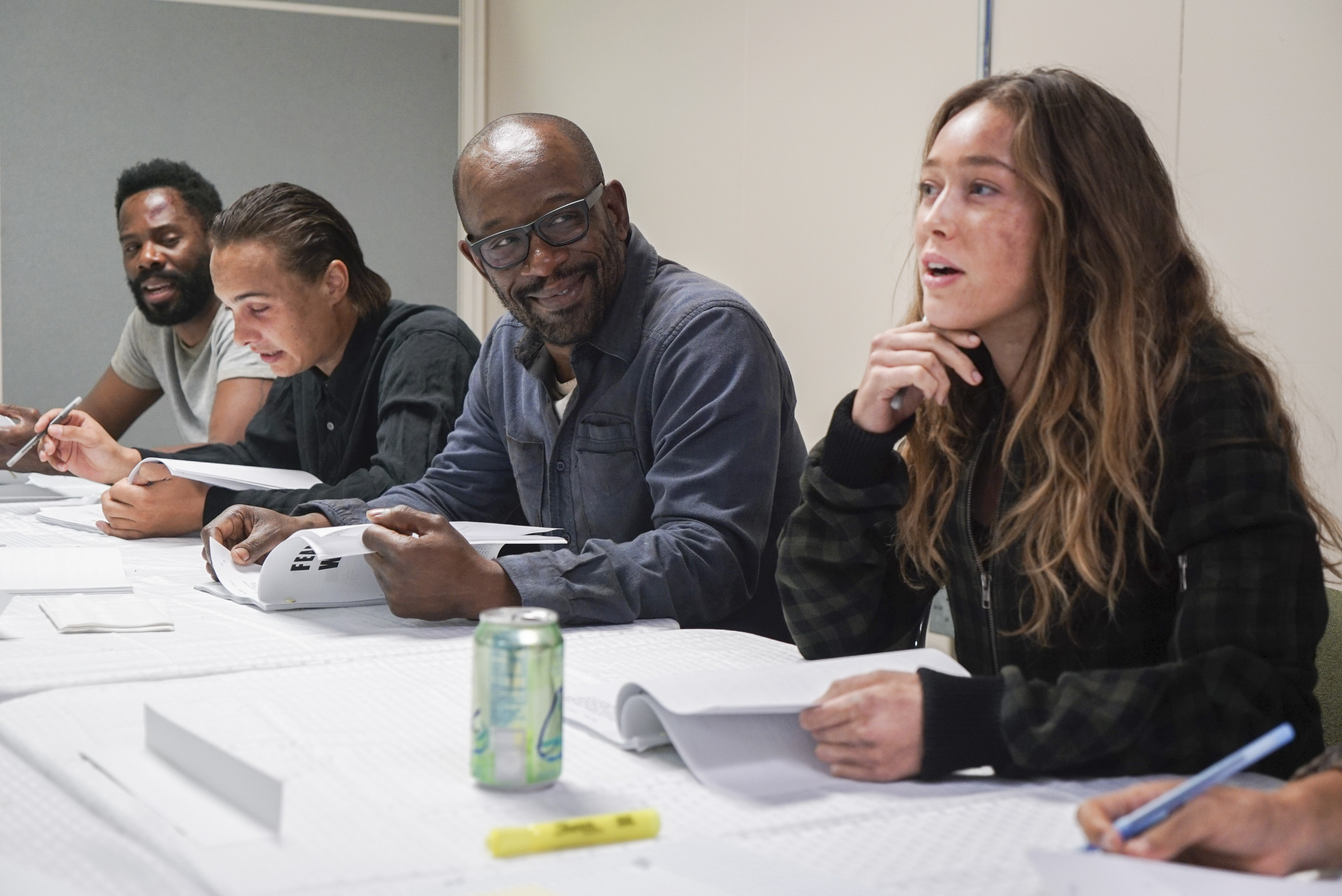 Colman Domingo as Victor Strand, Frank Dillane as Nick Clark, Lennie James as Morgan Jones, Alycia Debnam-Carey as Alicia Clark - Fear the Walking Dead _ Season 4 - Photo Credit: Richard Foreman, Jr/AMC