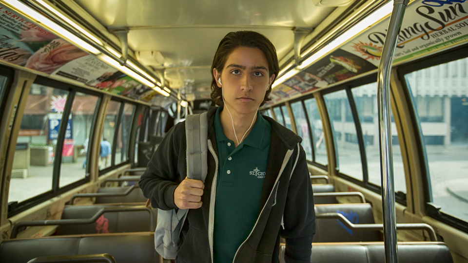Lorenzo James Henrie as Chris - Fear The Walking Dead _ Season 1, Episode 2 - Photo Credit: Justina Mintz/AMC