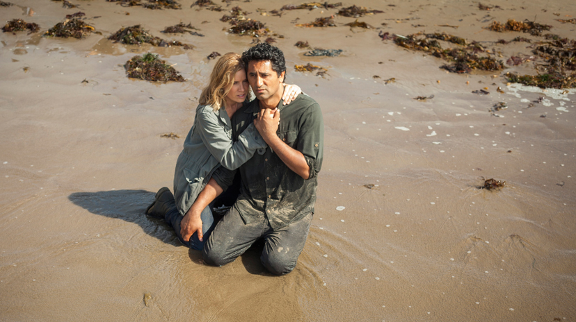 Kim Dickens as Madison and Cliff Curtis as Travis - Fear The Walking Dead _ Season 1, Episode 6 - Photo Credit: Justina Mintz/AMC