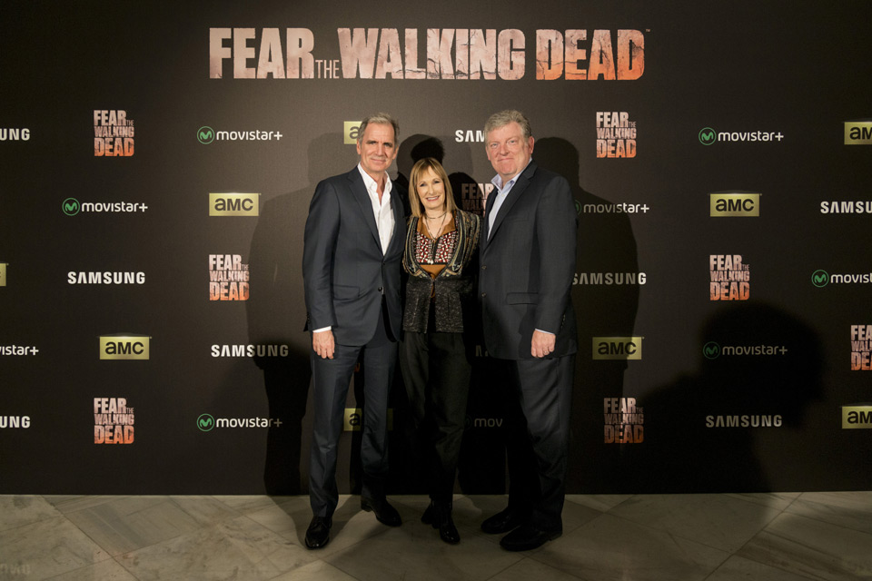 Eduardo Zulueta (Director General de AMC Networks International Iberia), Gale Anne Hurd y Harold Gronenthal (EVP, AMC / Sundance Channel Global).