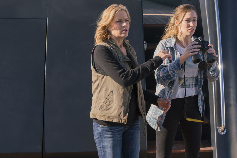Madison Clark (Kim Dickens) and Alicia Clark (Alycia Debnam-Carey) in Episode 1 Photo by Richard Foreman/AMC